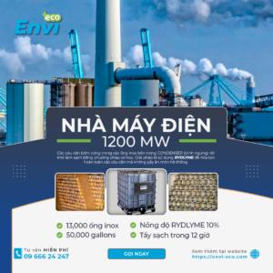 Tẩy cáu cặn bình ngưng Condenser nhà máy điện 1200 MW